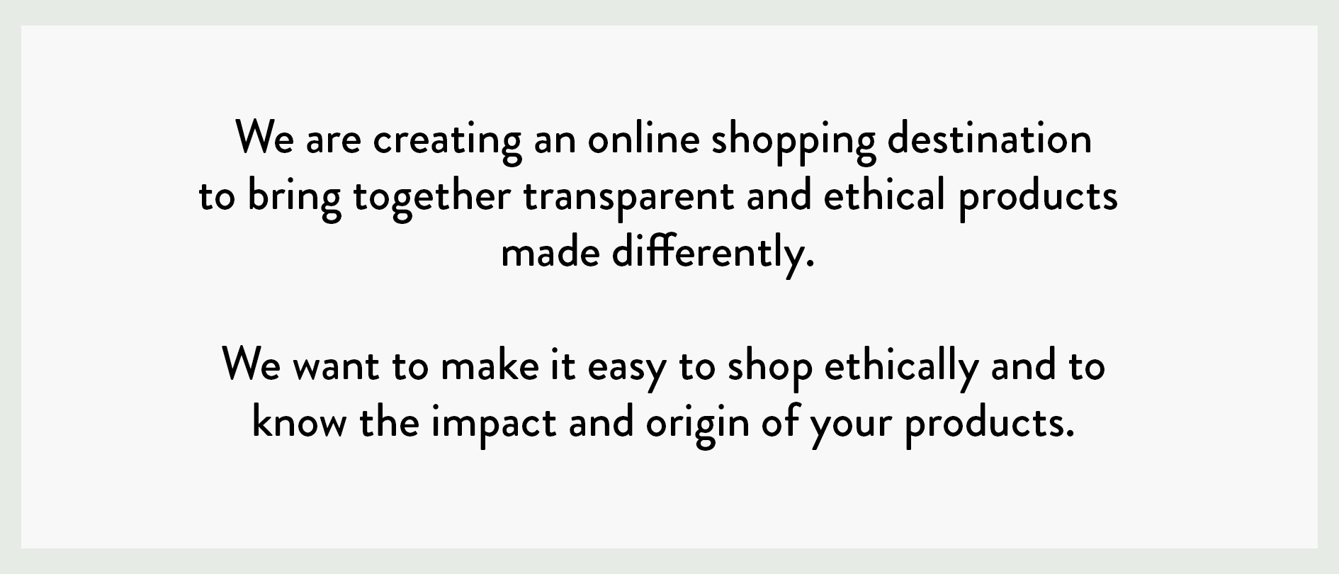 Know The Origin: Ethical & Transparent Marketplace - a