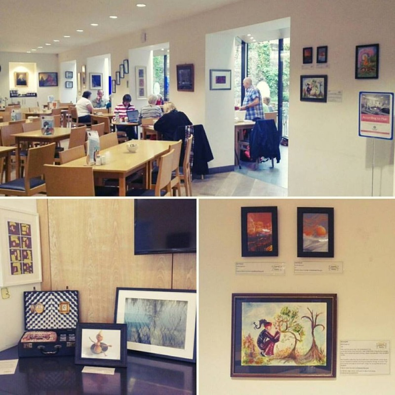Image of the 2016 Empathy Festival art exhibition at the Well Cafe