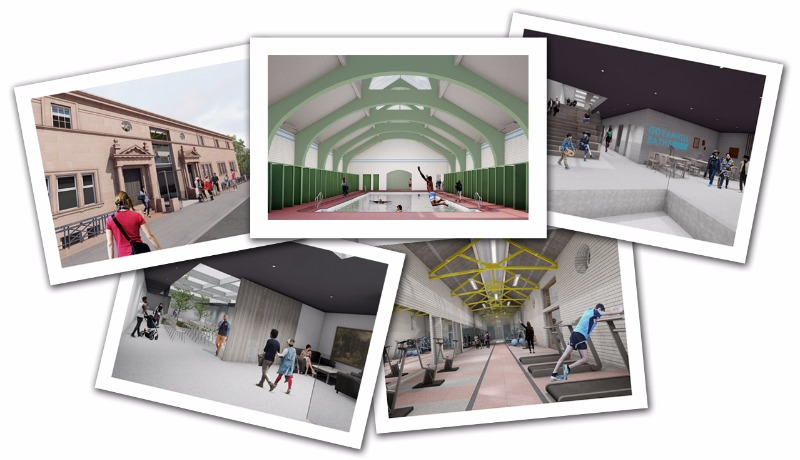 Selection of images of redeveloped Baths