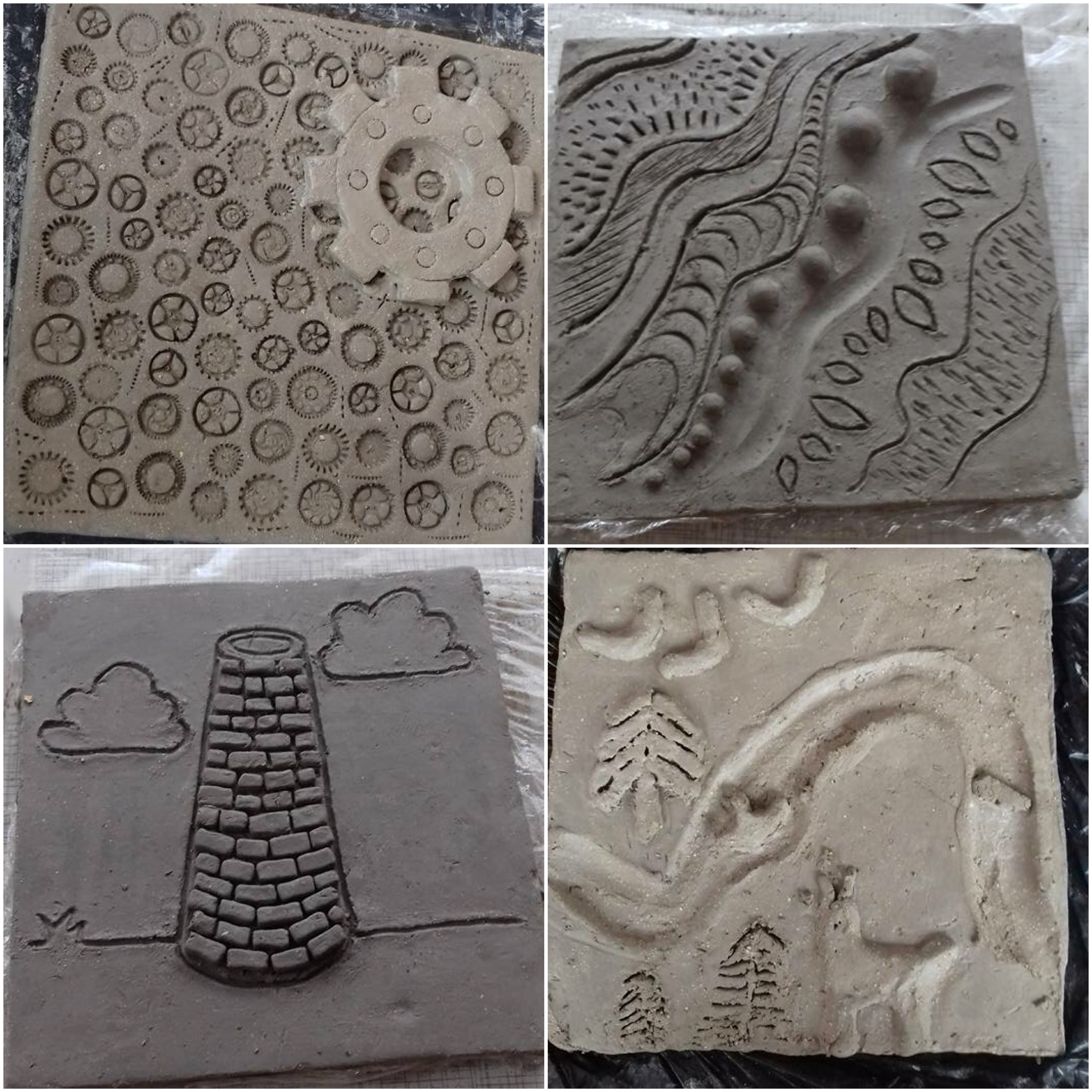 examples of the clay tiles