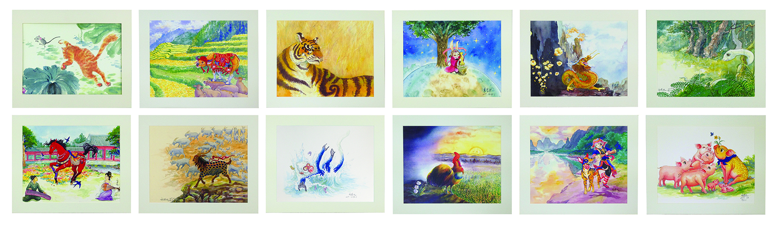 Fine Art Print of the 12 Animal Zodiacs