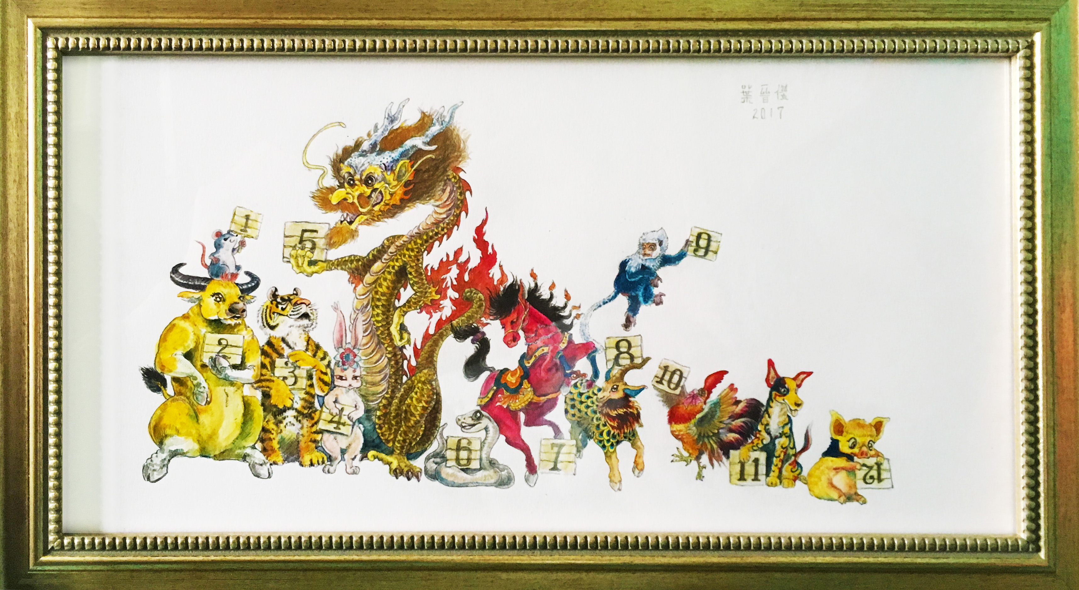 Hand drawing of 12 Animal Zodiacs