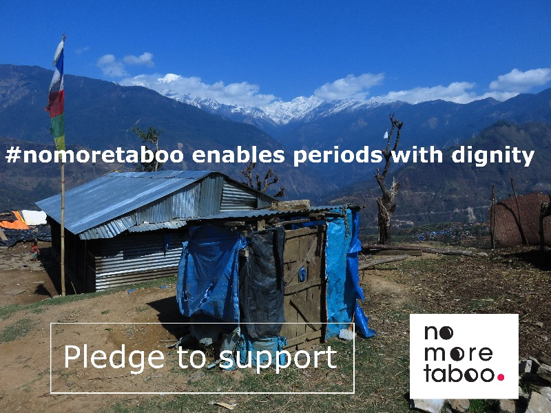 Toilet in rural community in Nepal, taken by No More Taboo 2016