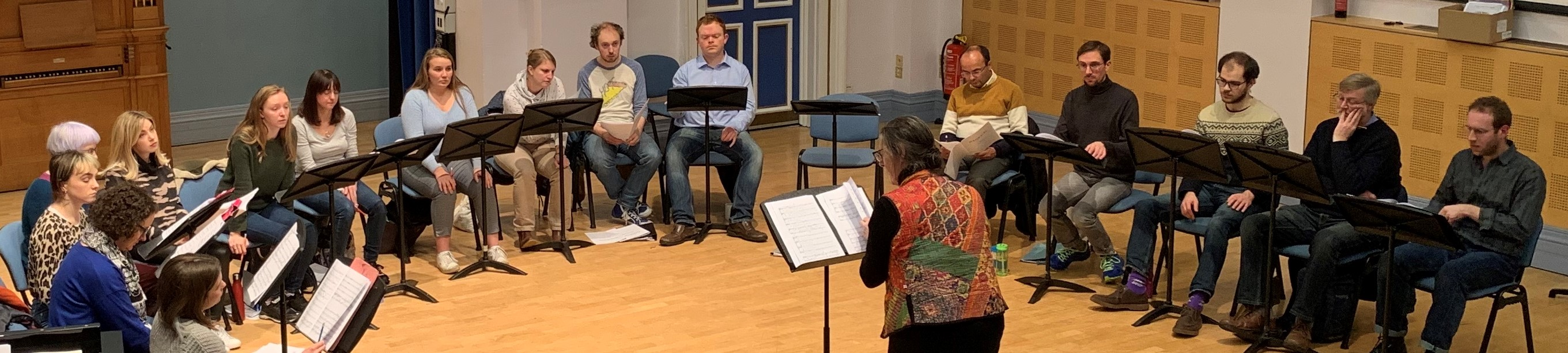 Borealis rehearsing for vol.2 of Hans Gál, 'Music for Voices'