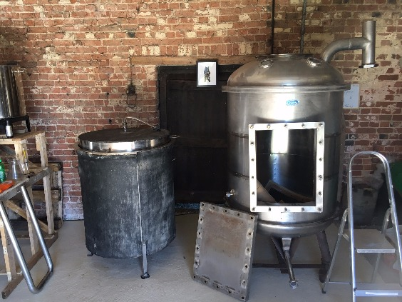 The kettle and Mash Tun