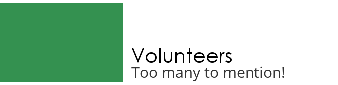 Volunteers - too many to mention