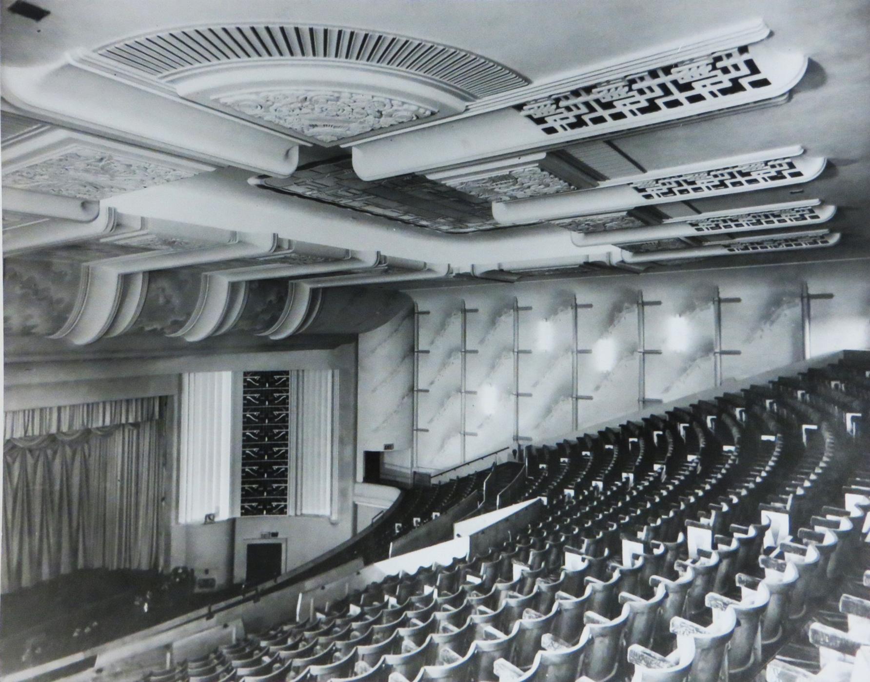 Interior shot of the original Savoy cinema auditorium