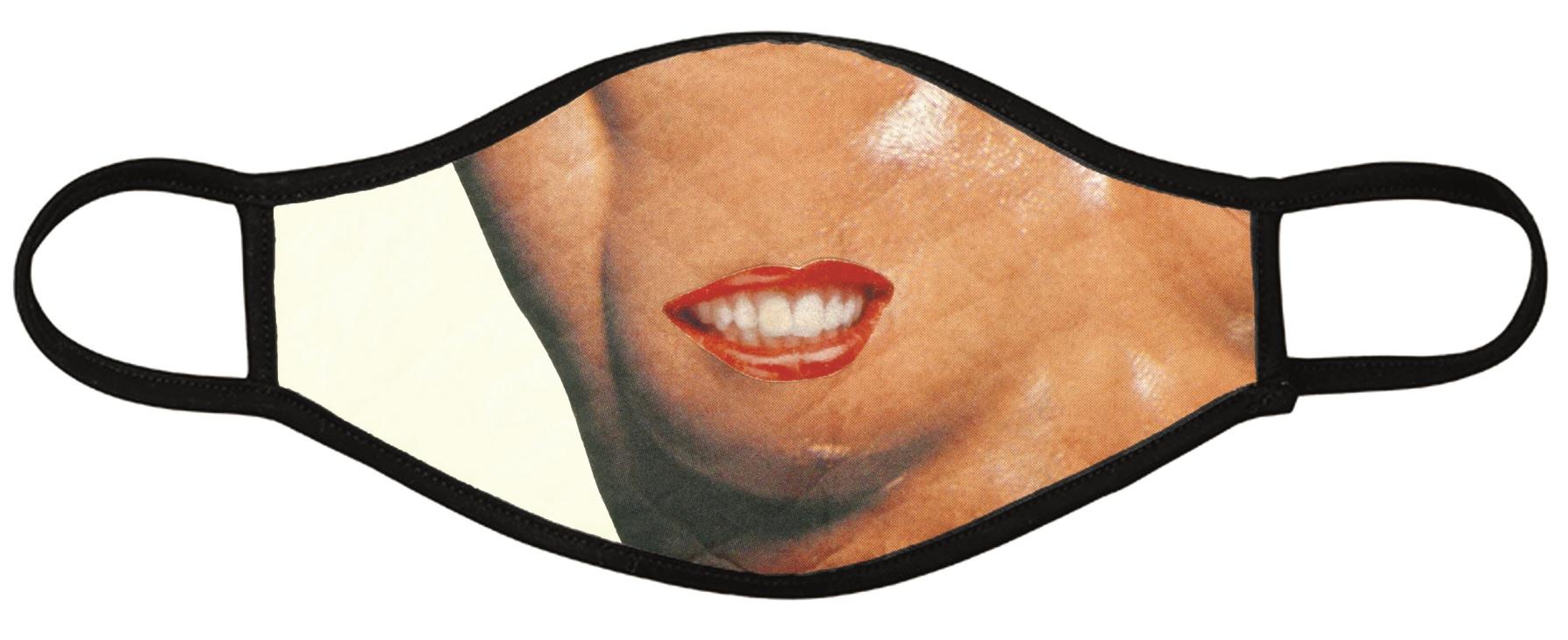 La mascherina in edizione limitata realizzata da Linder. Sarà possibile ottenerla con una donazione al Rapid Response Fund.
