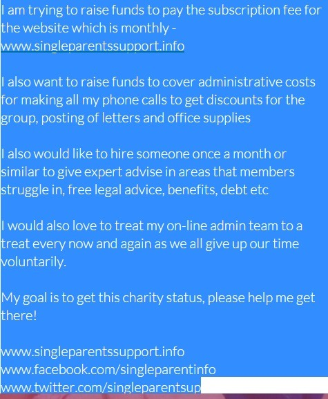 Single Parent Support Group - a Community crowdfunding