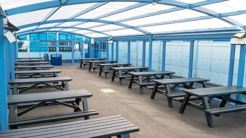 CHRISTMAS APPEAL: Covered Outdoor Seating Area