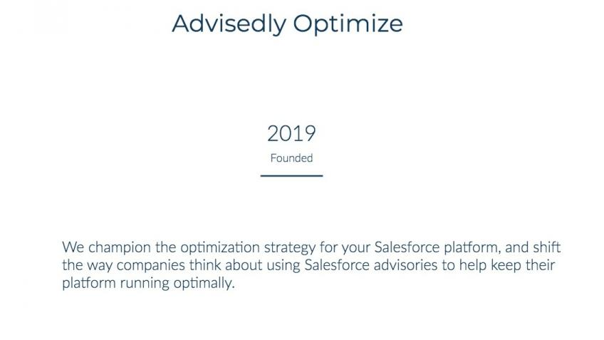 We Advise,You Optimize - your ROI from Salesforce