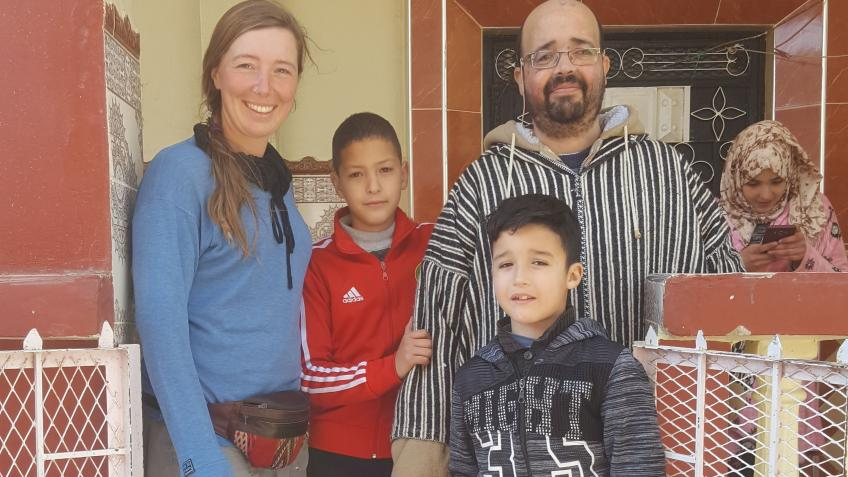 Support for loving Moroccan family wth sick Father