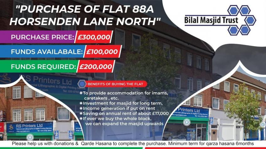 Acquisition of premises for Bilal Masjid Greenford