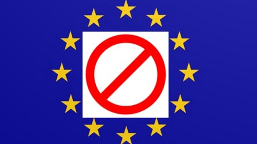 Stop sign stickers for EU flags Proms Last Night