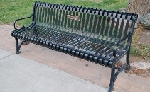 Replace fire destroyed memorial bench