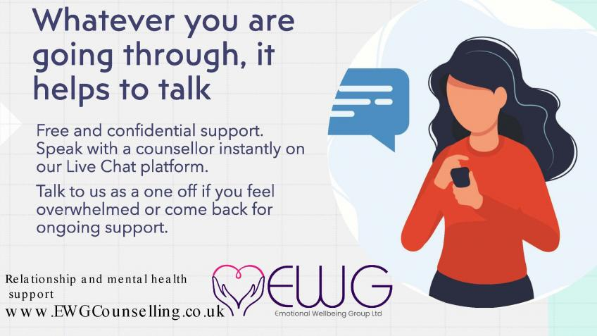 Free Online Counselling drop in service