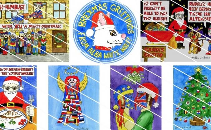 Bleu christmas cards for eu image