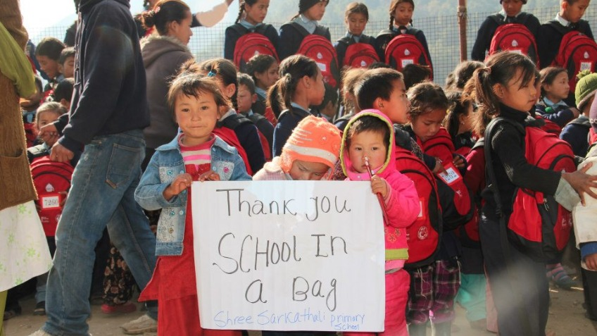 School in a Bag, driven by you!
