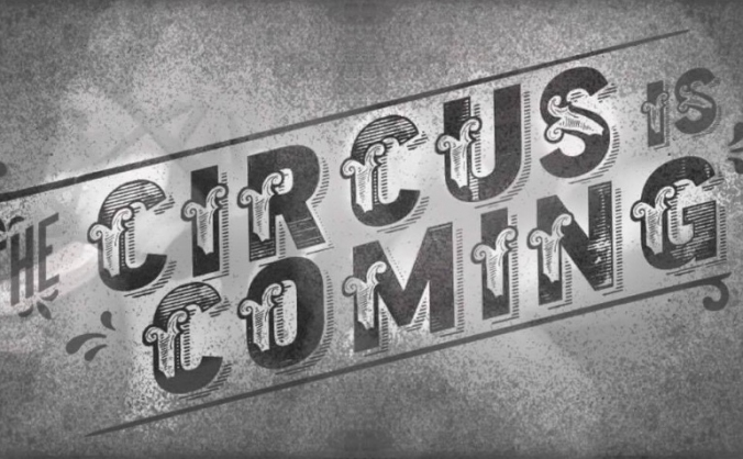 Circus on moon street image