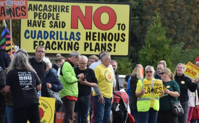 Fight fracking injustice in lancashire image