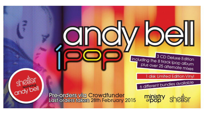 'iPop' Shelter feat Andy Bell album on deluxe CD & Vinyl