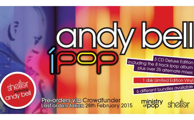 'iPop' Shelter feat Andy Bell album on deluxe CD & Vinyl
