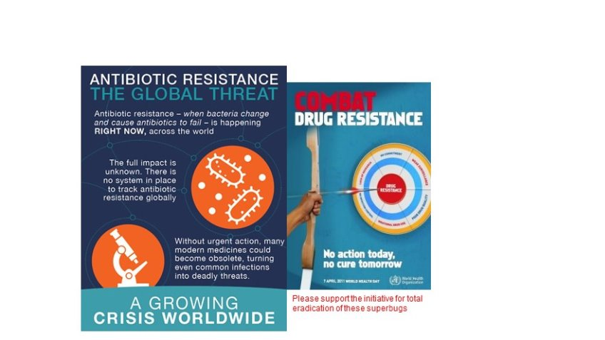 Elimination of  antimicrobial resistance infection