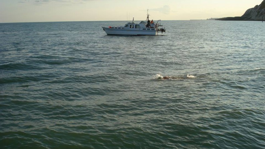 Andre's Solo English Channel Swim 2015