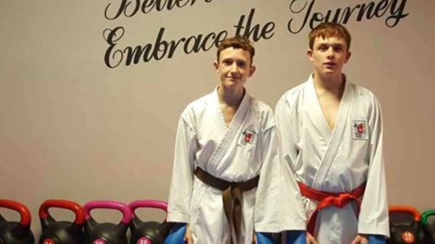 Jed and Brandon England team fighters