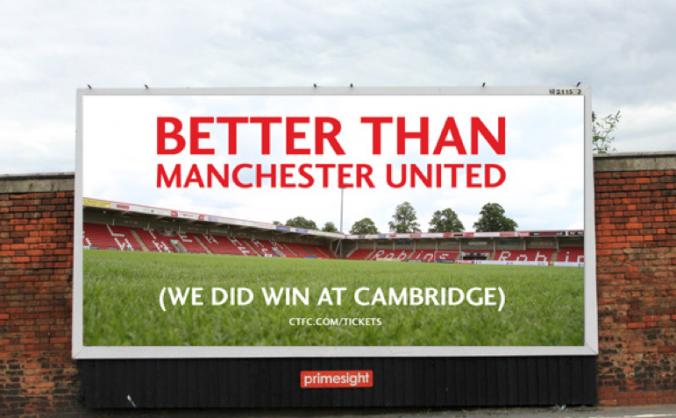 Cheltenham Town billboard poster