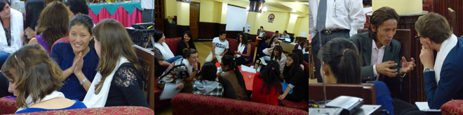 Young people from Swansea, Wales and Gantok, Sikkim discuss the future of Tibet