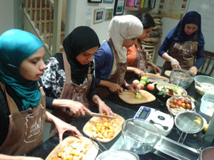 muslim ladies cooking
