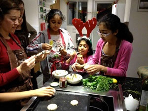 Christmas cookery class