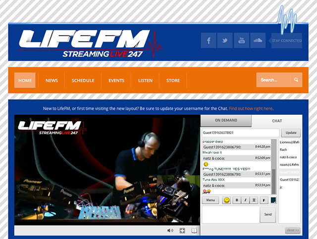 Lifefm Website