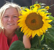 Sunflower grown by Pernille.