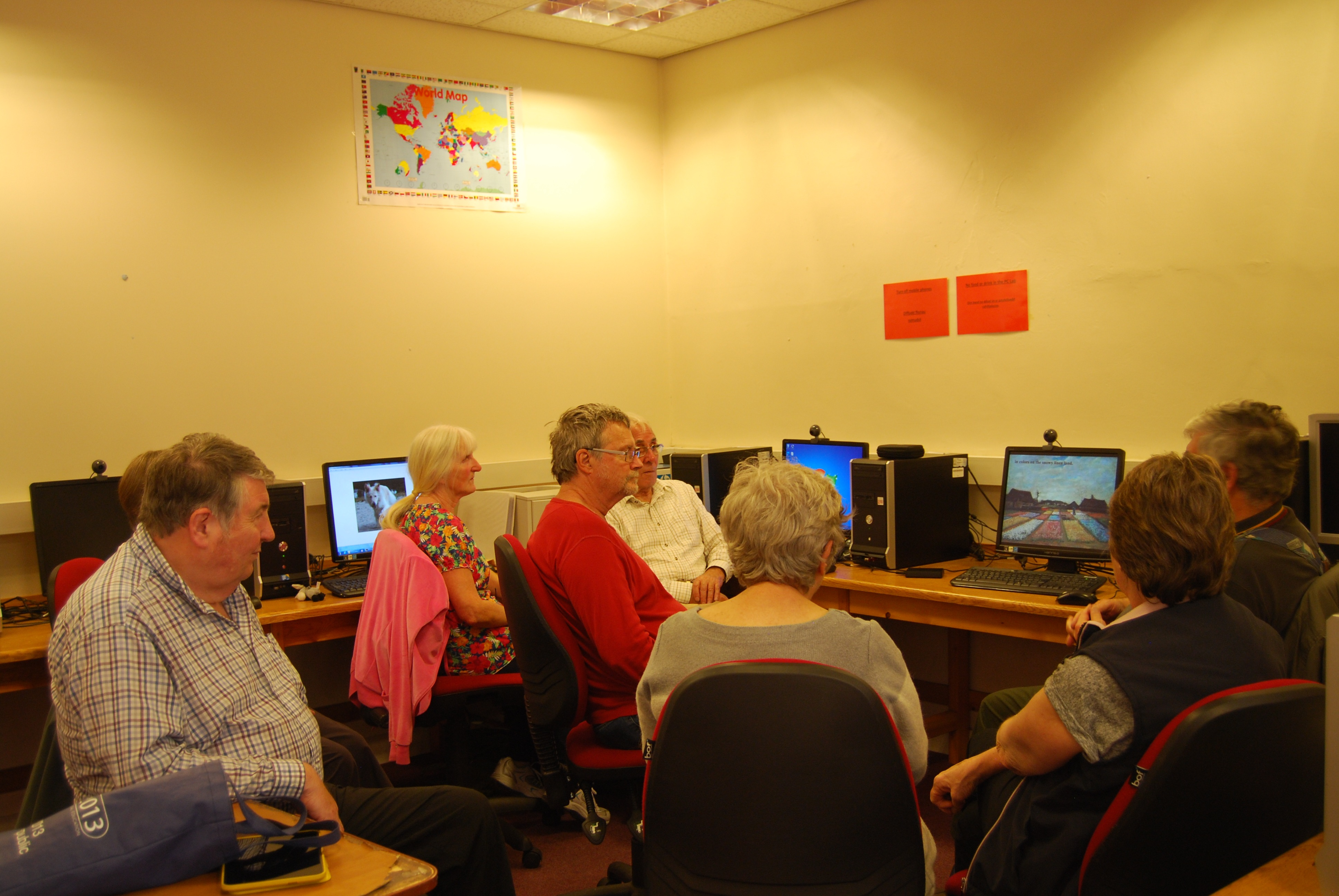 Computer course at Glynneath Training Centre