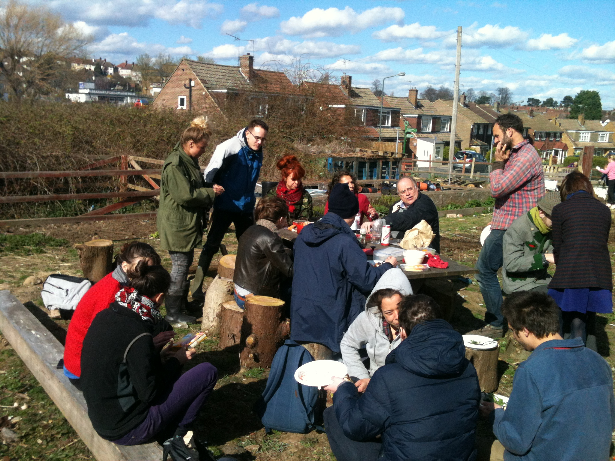 Sharing lunch on the Big Dig Day
