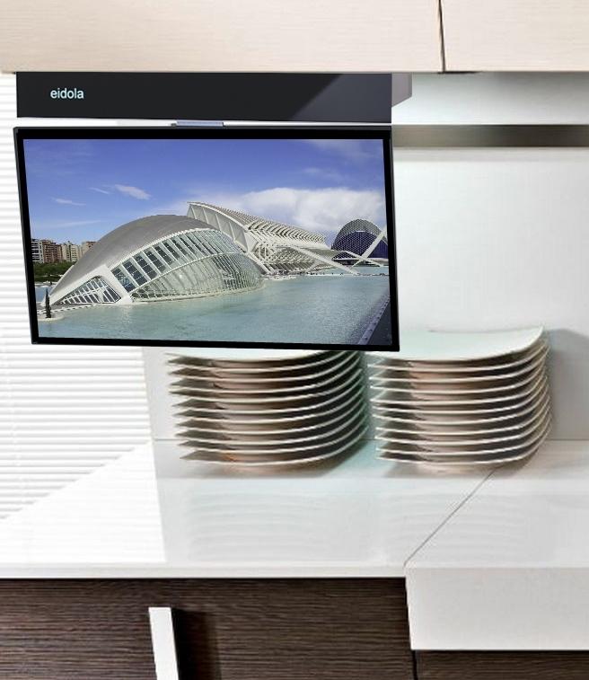 Elegant Eidola SMART Under Cabinet Kitchen TV