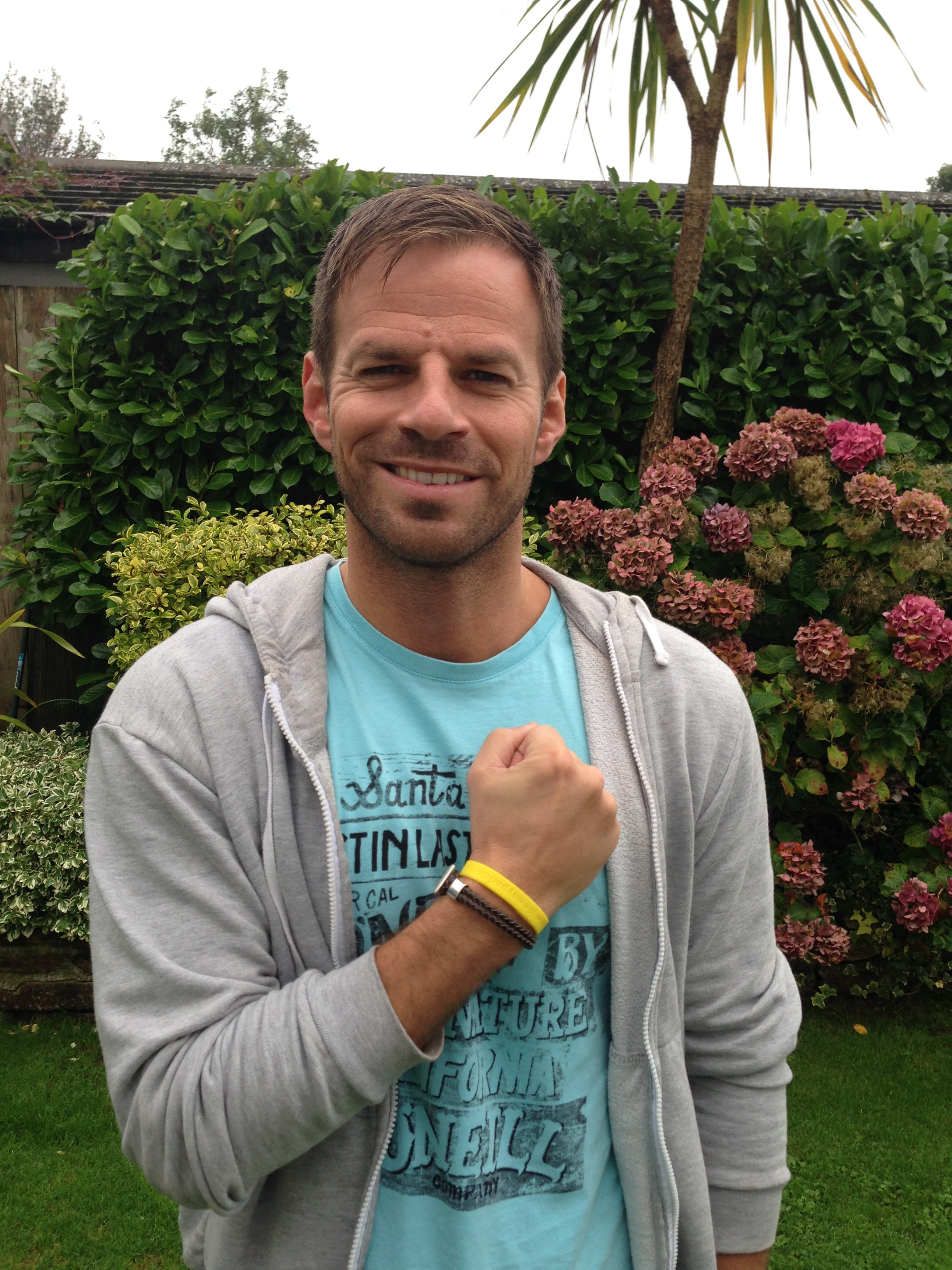 ben richards with his paddle wrist band