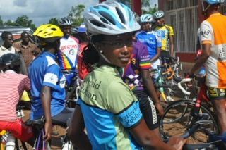 Female Rwandan Cyclist