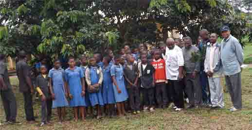 Environmental club and staff at Lycée de Nkoumadjap
