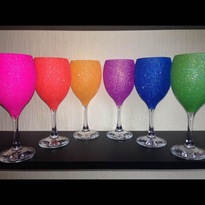 Buy Glitter Wine Glasses