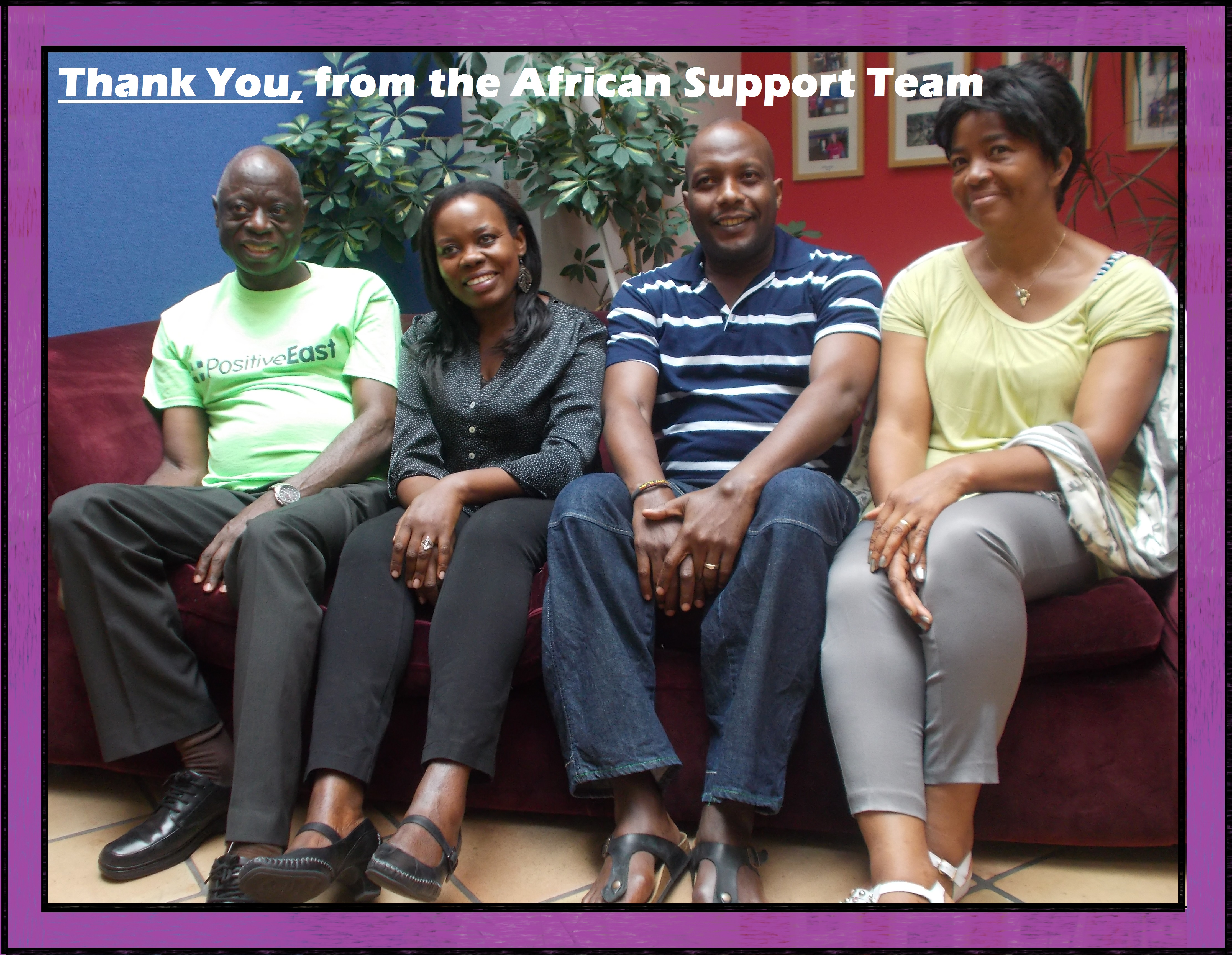 Thank you from the African Support Team