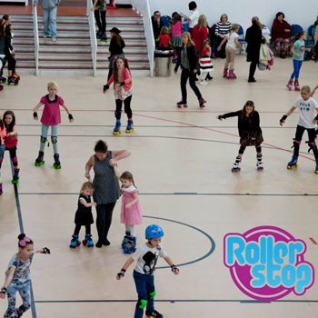 Skaters at RollerStop roller disco