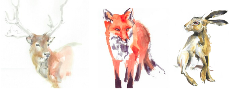 woodland animals by Frances Ives illustration