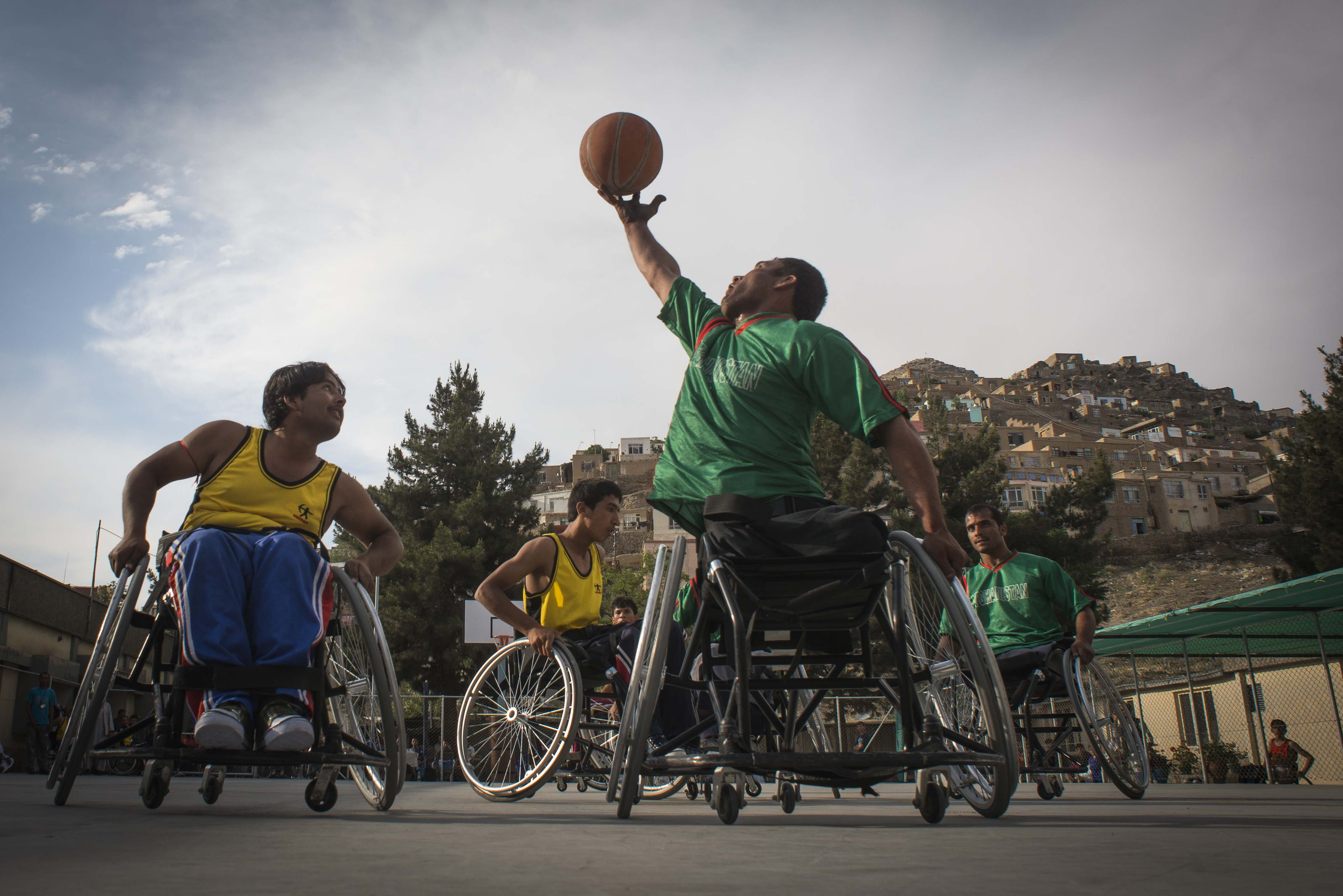 The Afghanistan wheelchair basketball team
