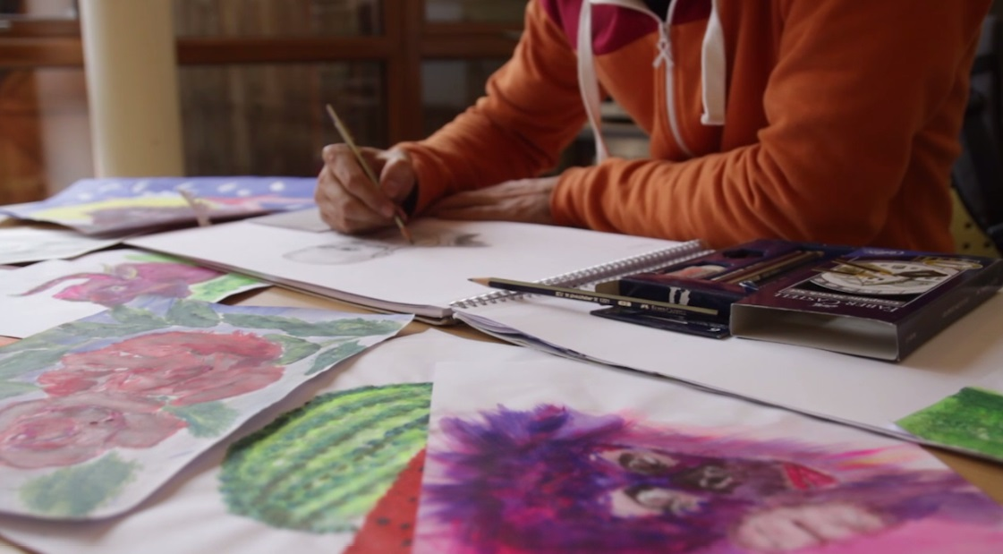 Ali's artwork