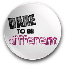 Dare to be different badge