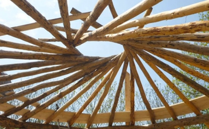 Outdoor learning through greenwood construction image