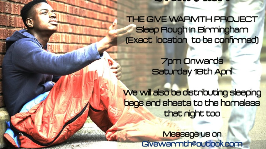 The Give Warmth Project Sleep Rough